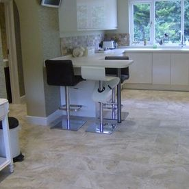 new kitchen tiled floor