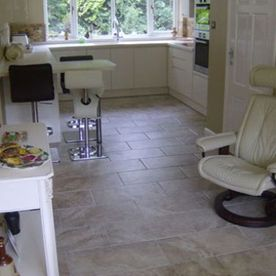 kitchen tiled floor
