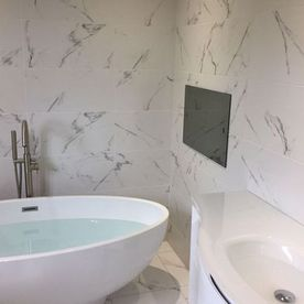 bathroom tiles and bath
