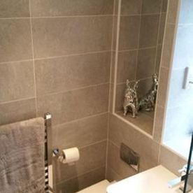 newly tiled bathroom