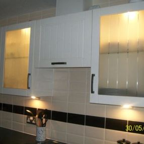 kitchen cupboards and tiles