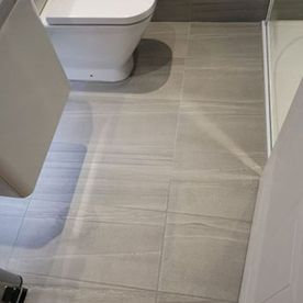 toilet and floor tiles